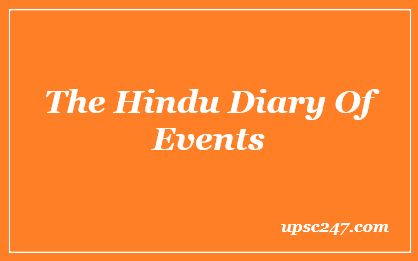 The Hindu Diary of Events 2020-21 Pdf For UPSC & Other Exams