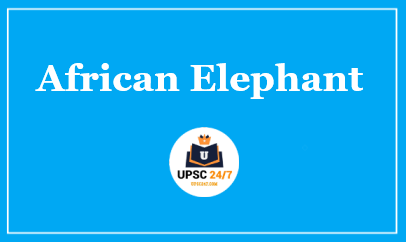 African Elephant UPSC | IUCN Status Critically Endangered