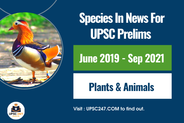 Species In News For UPSC Pdf 2021   Most Important Species